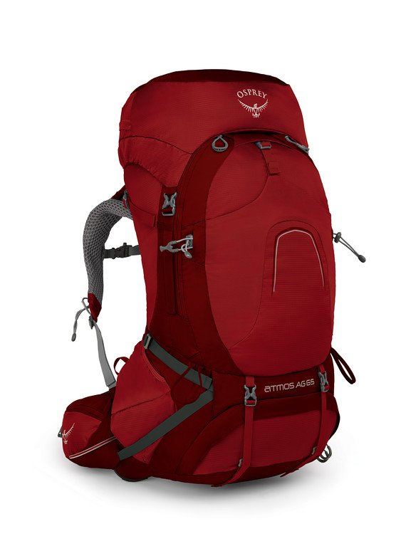 Osprey Atmos 65L Backpack rigby red
