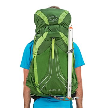 Osprey exos 58 backpack ice axe attachment bungee ties