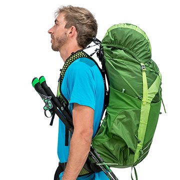 Osprey exos 58 backpack trekking pole attachement