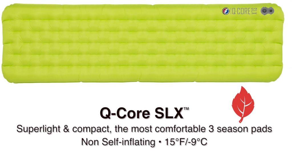 Big Agnes Q Core SLX Sleeping Pad 3 season