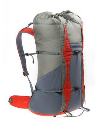 frameless backpacking backpack