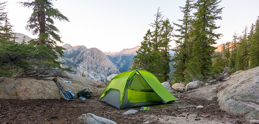 how to avoid hiking crowded trails by bringing a tent